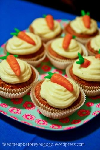 Möhren-Cupcakes mit Frischkäse-Frosting Martha Stewart