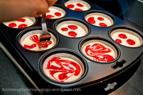 Raspberry Marble Swirl Cheesecakes Martha Stewart