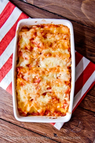 Cannelloni gefüllt mit Ricotta und Kürbis und mit Käse überbacken Rezept Feed me up before you go-go