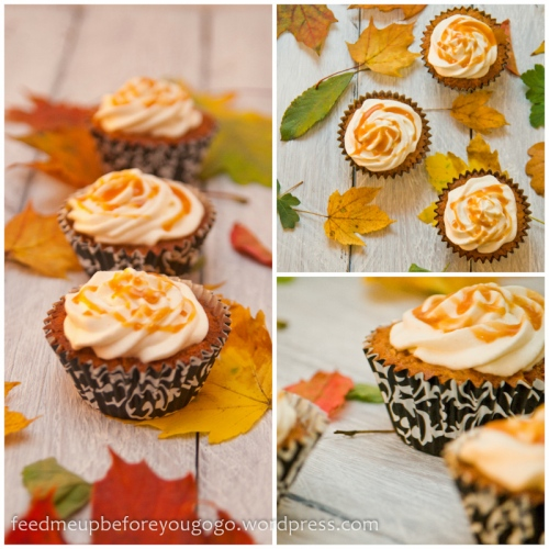 Apfel-Karamell-Cupcakes nach Fräulein Klein Rezept Feed me up before you go-go