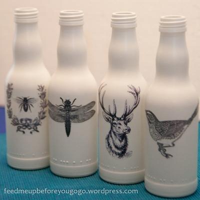 Flaschen dekorieren DIY
