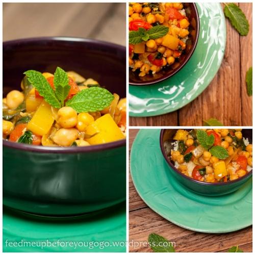 Veganes Kichererbsen-Sambal mit Minze, Mango und Couscous Rezept