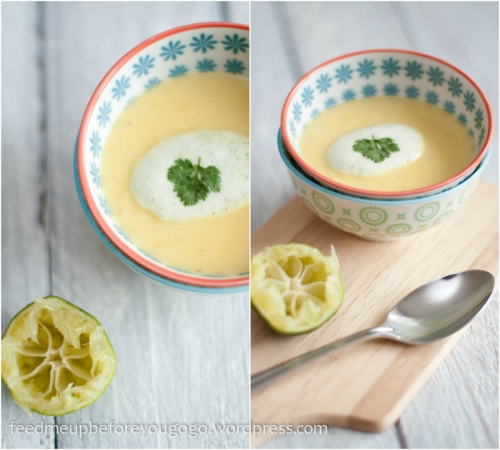 Mango-Ingwer-Suppe mit Korianderschaum by feed me up before you go-go-5