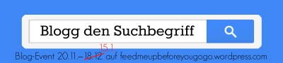 Banner Blogevent Blogg den Suchbegriff