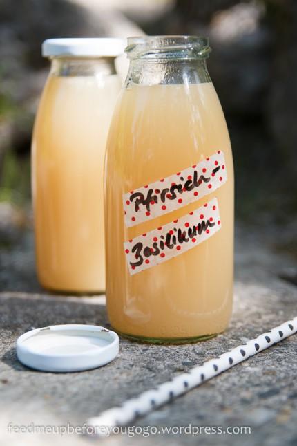 Pfirsich-Basilikum-Limonade Rezept-3