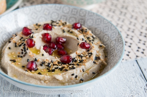 Vegetarische Mezze_Baba Ganoush_Artischockencreme_Zucchiniröllchen-5