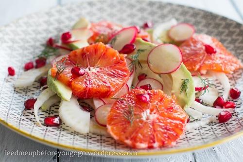 Fenchel-Blutorangen-Salat mit Avocado, Granatapfel, Dill Rezept-1