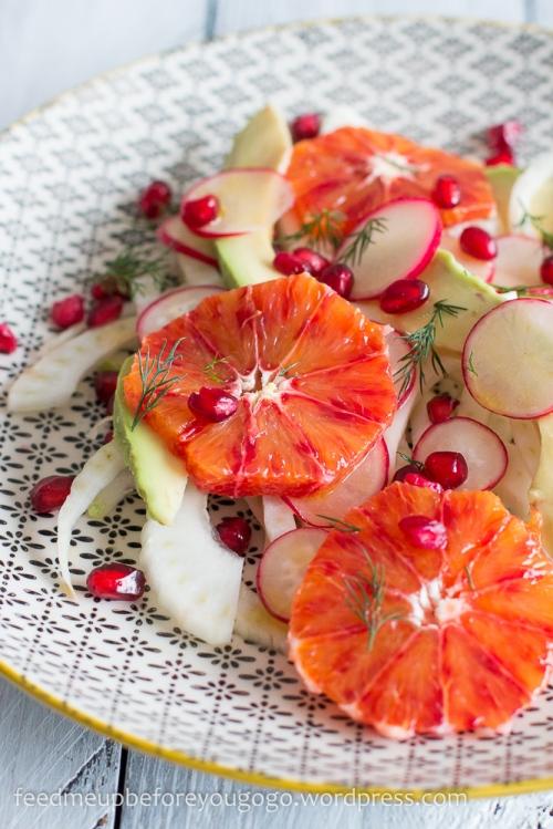 Fenchel-Blutorangen-Salat mit Avocado, Granatapfel, Dill Rezept-2-2