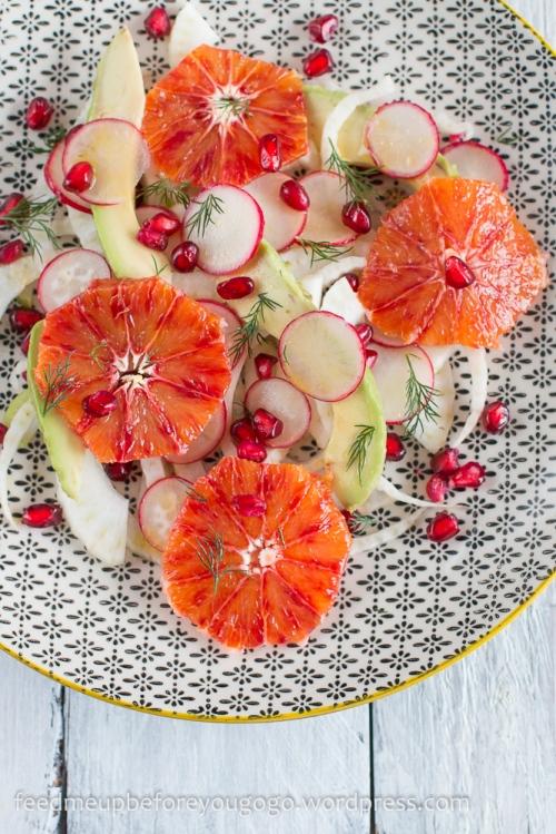 Fenchel-Blutorangen-Salat mit Avocado, Granatapfel, Dill Rezept-4-2